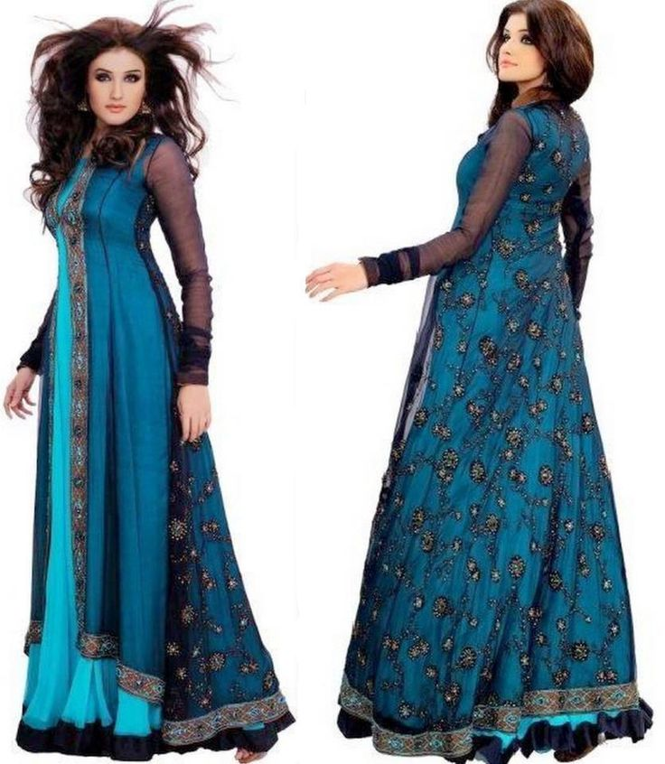 Pakistani Gown with Open Front