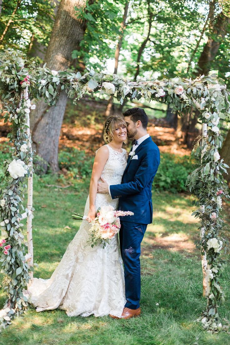 low budget wedding new jersey%0A A romantic outdoor wedding arbor