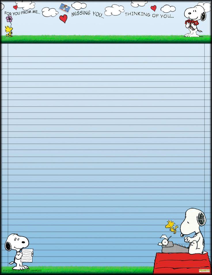 snoopy stationary   Snoopy Stationary by Erialosa