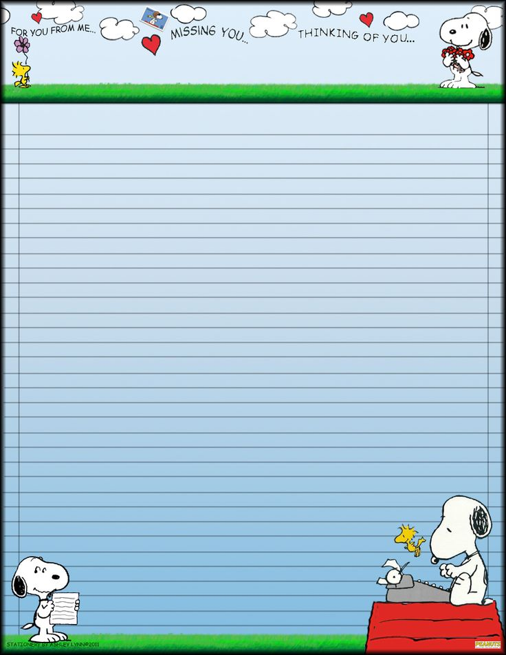 Snoopy Stationary by Erialosa.deviantart.com on @DeviantArt