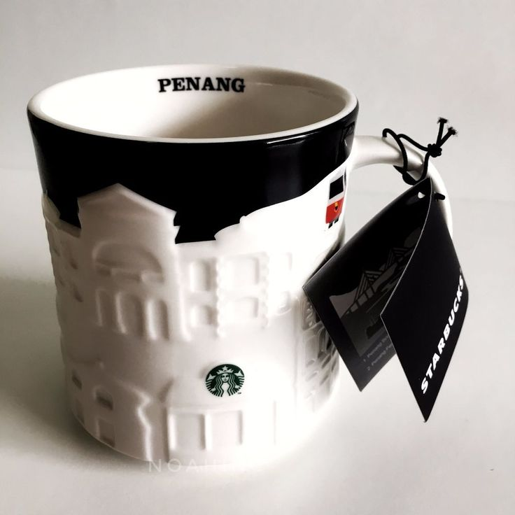 [NEW] STARBUCKS MALAYSIA PENANG CITY MUG RELIEF 16oz COLLECTION Ferry Cable Car #StarbucksCoffeeCompany