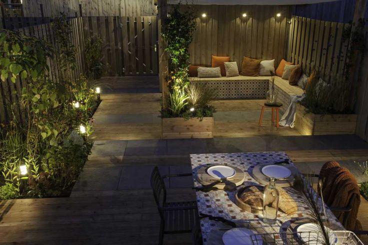 Het eindresultaat van de veentuin in eigen huis tuin in deze tuin zijn staande lamp liv low - Buitenverlichting design tuin ...
