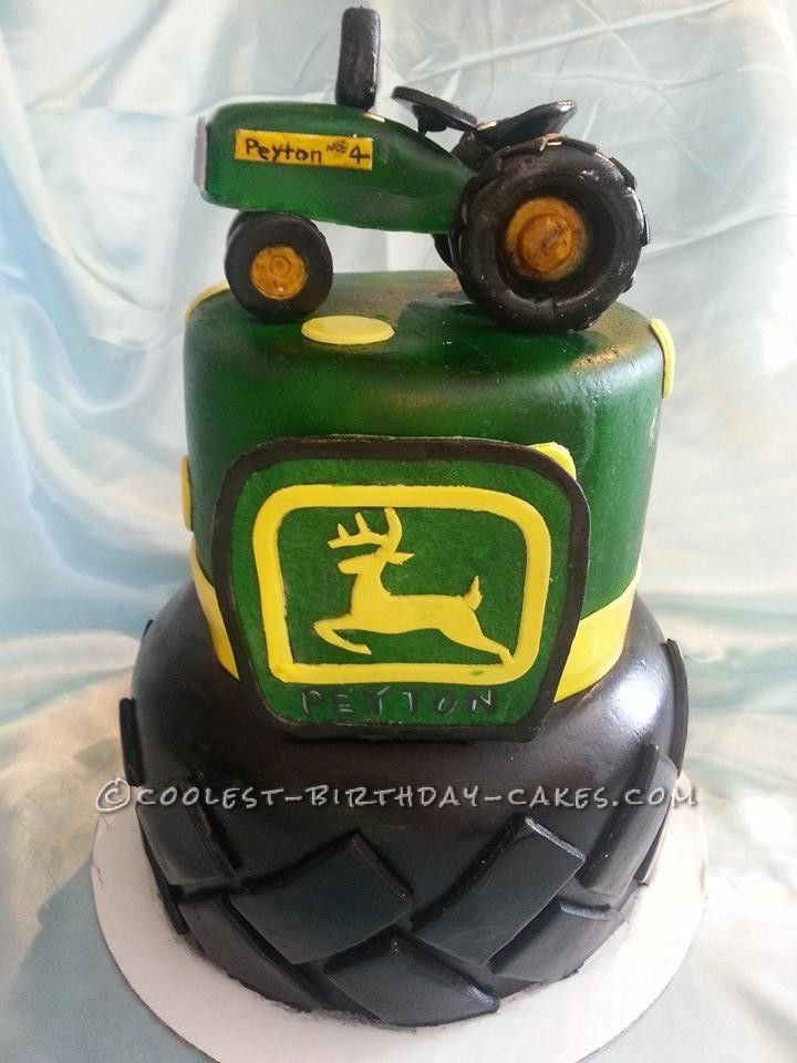 Green Birthday Cake Photo