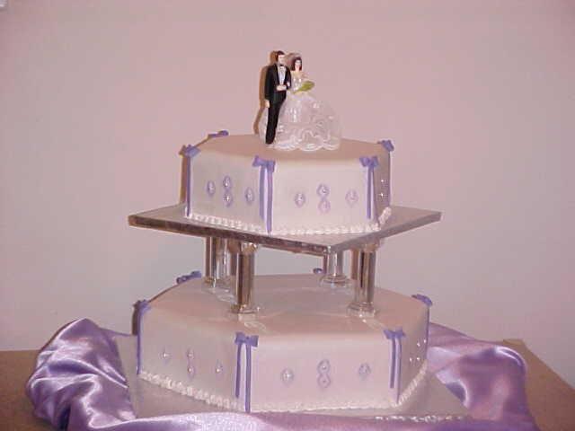 2 Tier Purple Wedding Cake