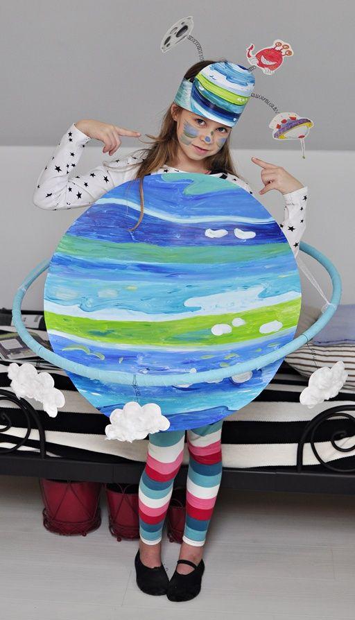 diy kid costume planets space ; zrób to sam kostium przebranie dla dziecka planety kosmos