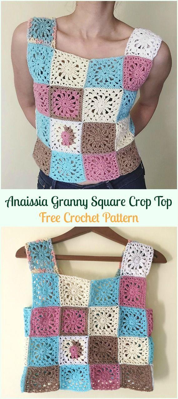 Anaissia Oma Square Crop Top kostenlose Häkelanleitung - #Croc ...
