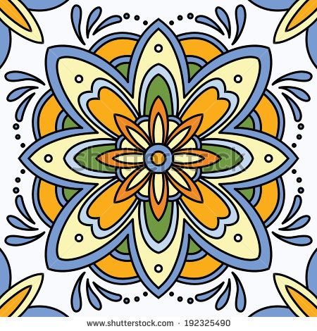 Beautiful seamless ornamental tile background vector illustration by Maria_Galybina, via Shutterstock