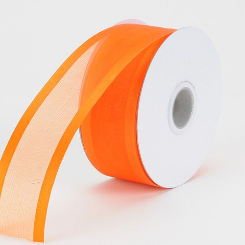 Orange Colored Organza #Ribbon Two Striped #Satin Edge 3/8 inch 25 Yards   http://ribbons.cheap/product/orange-organza-ribbon-two-striped-satin-edge-38-inch-25-yards/