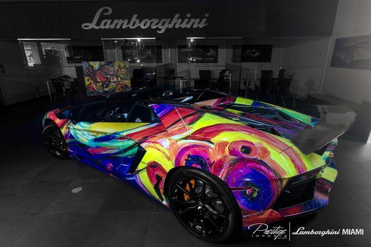 Lamborghini Aventador Roadster Art Car Side View:  Http://my.carid.com/featured/rides/lamborghini Aventador Roadster Art Car    Pinterest   Lamborghini ...