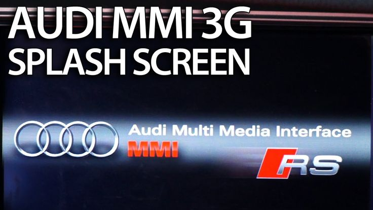 How to change splash screen #Audi MMI 3G (A1 A4 A5 A6 A7 A8 Q3 Q5 Q7) #bootlogo #welcomeScreen