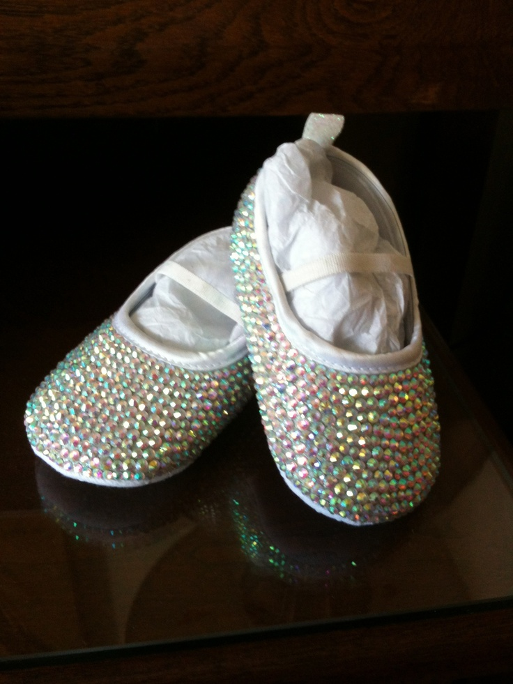 Fully encrusted child's wedding shoe by CSC