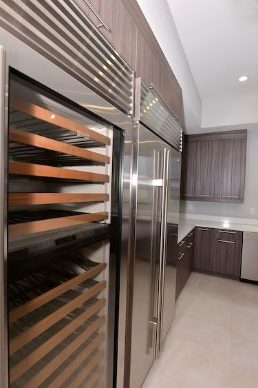 Wine fridge in the kitchen