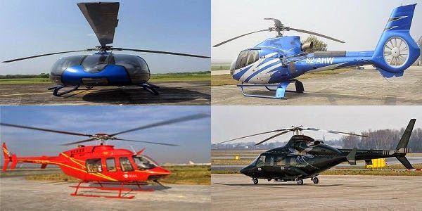 Helicopter rental service providers in Bangladesh
