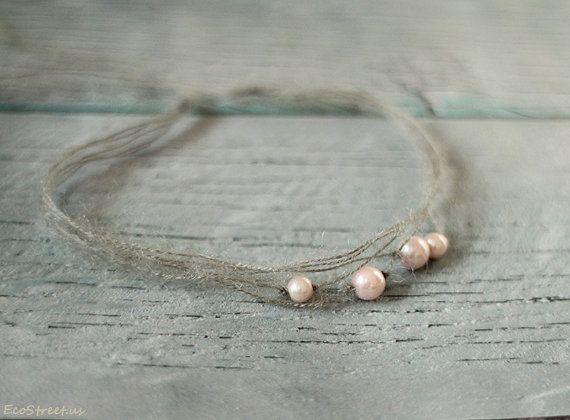 Baby archetto perla, rosa e grigio fascia neonato, bambini Tieback, Mohair bardatura, archetto Dainty, perla Tieback, Baby Girl foto Prop
