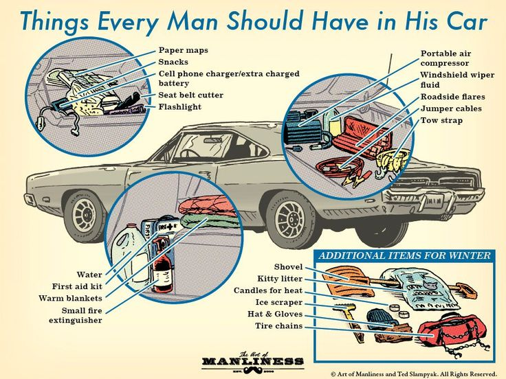 Things Every Man Should Have in His Car: An Illustrated Guide