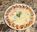 Repaus alimentar salată cu creveți