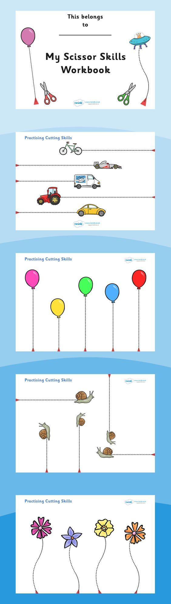 Scissor Cutting Skills Workbook