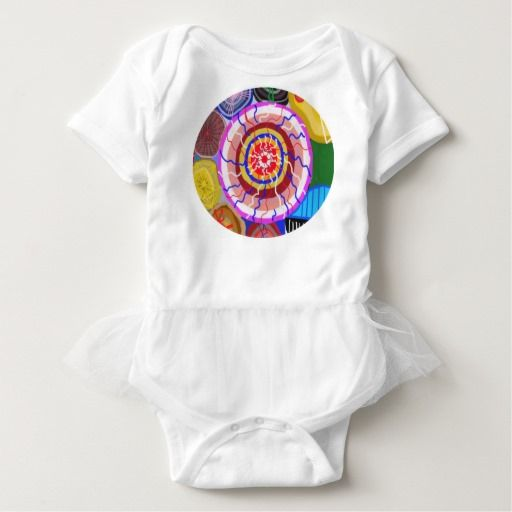 Baby Tutu Bodysuit Sun Flames Graphic Chic