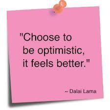 The power of rose colored optimism courtesy of the Dalai Lama