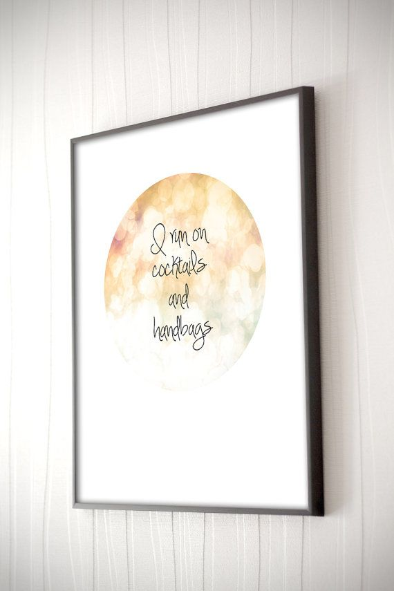 Quote Home Decor Typography Art Instant Digital by KerrieGDesigns