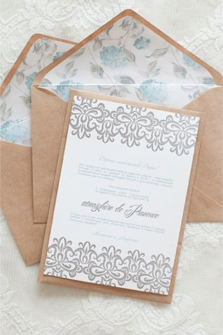 Powder blue and kraft wedding invitations | Anastasiya Belik Photography | http://burnettsboards.com/2013/12/powder-blue-white-wedding/