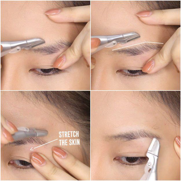 Use a facial razor for shaving | How to Shape Eyebrows Without Spending
