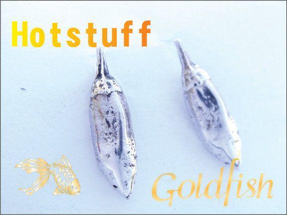 Hotstuff Sterling Chilli Earrings by GolfishJDS on Etsy, $40.00