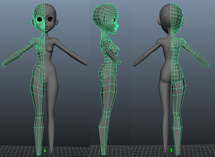 how to create character model in maya