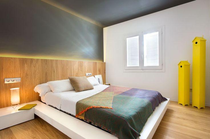 El antes y después de un chalet en Benicassim - Decorabien.com #dormitorio #matrimonio #cama baja #