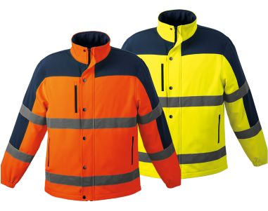 New two-tone SOFT-SHELL jacket in hi-tech fabric has contrast bonded fleece lining. Garment features zippered side pockets, chest pocket, storm flap, 1/2 elasticated cuffs and contrast back yoke. Fetures: •310g 4-Way stretch bonded fabric •High-visibility reflective tape •Single top-stitching throughout contact us for quote - linda@lindajacobspromotions.co.za 021 5572152 0836280181 www.lindajacobspromotions.co.za #brandedhighvisabilityjackets