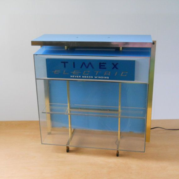 Vintage Lighted Timex Display Case  Lighted by lisabretrostyle2