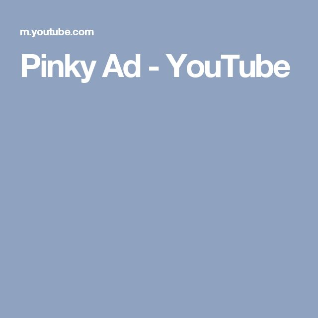 Pinky Ad - YouTube
