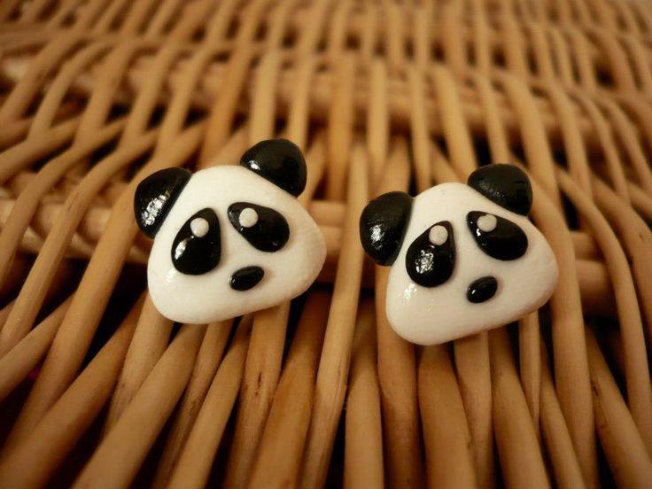 Handmade earrings, modelling clay