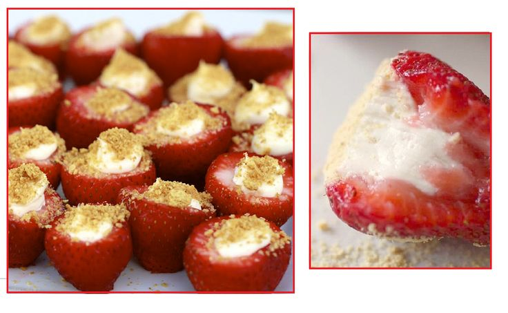 Always Trust a Skinny Cook: Cheese Cake Filled Strawberries