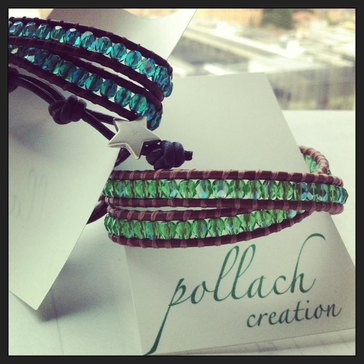 Bracciali cristalli verde e smeraldo