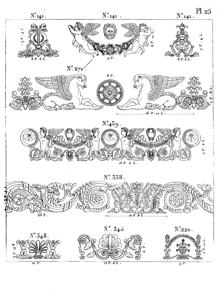 Empire Style Designs and Ornaments