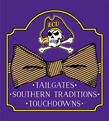 987ad57791a Southern Couture University of East Carolina ECU Pirates Classic Preppy Bow  Girlie Bright T Shirt