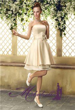 Vestidos de novia para civil color champagne