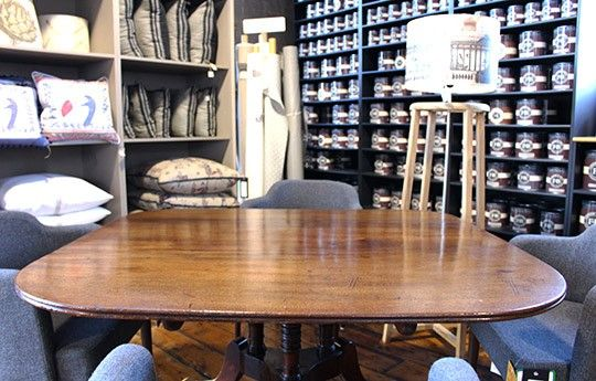 Antique Marriage of Edwardian 3-Foot Centre Pedestal Dining Table - WARINGS Store