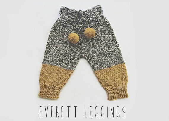 Hand knit baby leggings in a mustard yellow and grey tweed color combo. The Everett Leggings are knitted with a highly absorbent, durable and                                                                                                                                                                                 Mais