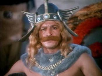 Un viking représenté caricaturalement dans le film turc Tarkan Viking Kani (1971), dans lequel des vikings enlèvent la fille du roi des Huns Attila pour le compte de la fille de l'empereur de Chine. Pour en savoir plus : http://www.fafnir.fr/tarkan-viking-kani.html.