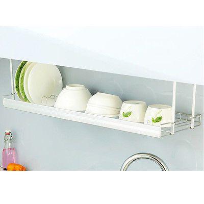 Stainless Under Sink Shelf Dish Cup Storage Drying Rack Kitchen Shelf  Organizer