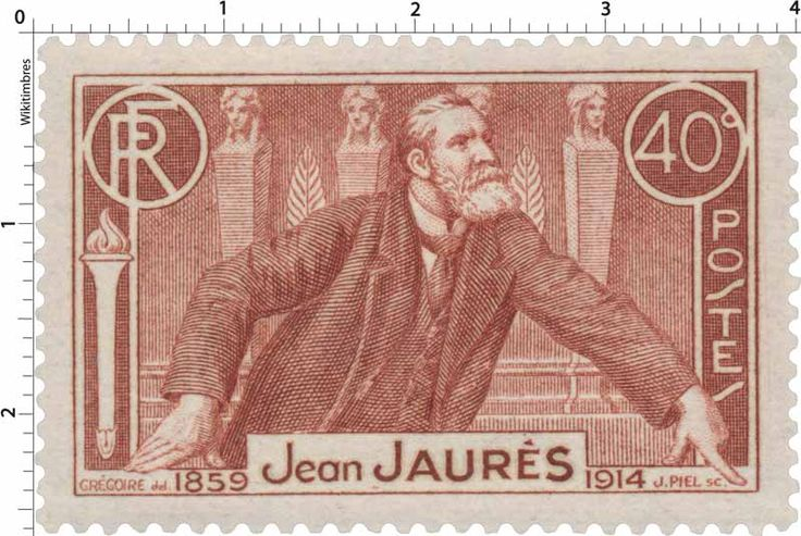 Timbre 1936 : Jean JAURÈS 1859-1914 | WikiTimbres
