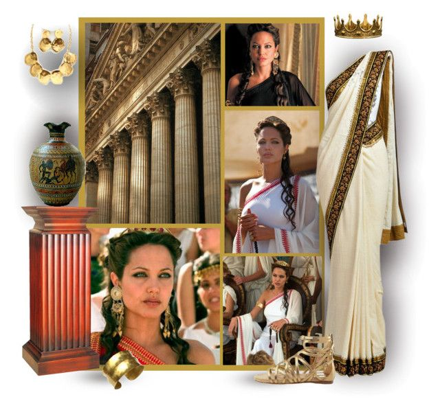 """""""The Glory of Ancient Greece  - Queen Olympias, Mother of Alexander"""" by mary-gereis ❤ liked on Polyvore featuring Dower & Hall, Fantasy Jewelry Box and Miu Miu"""