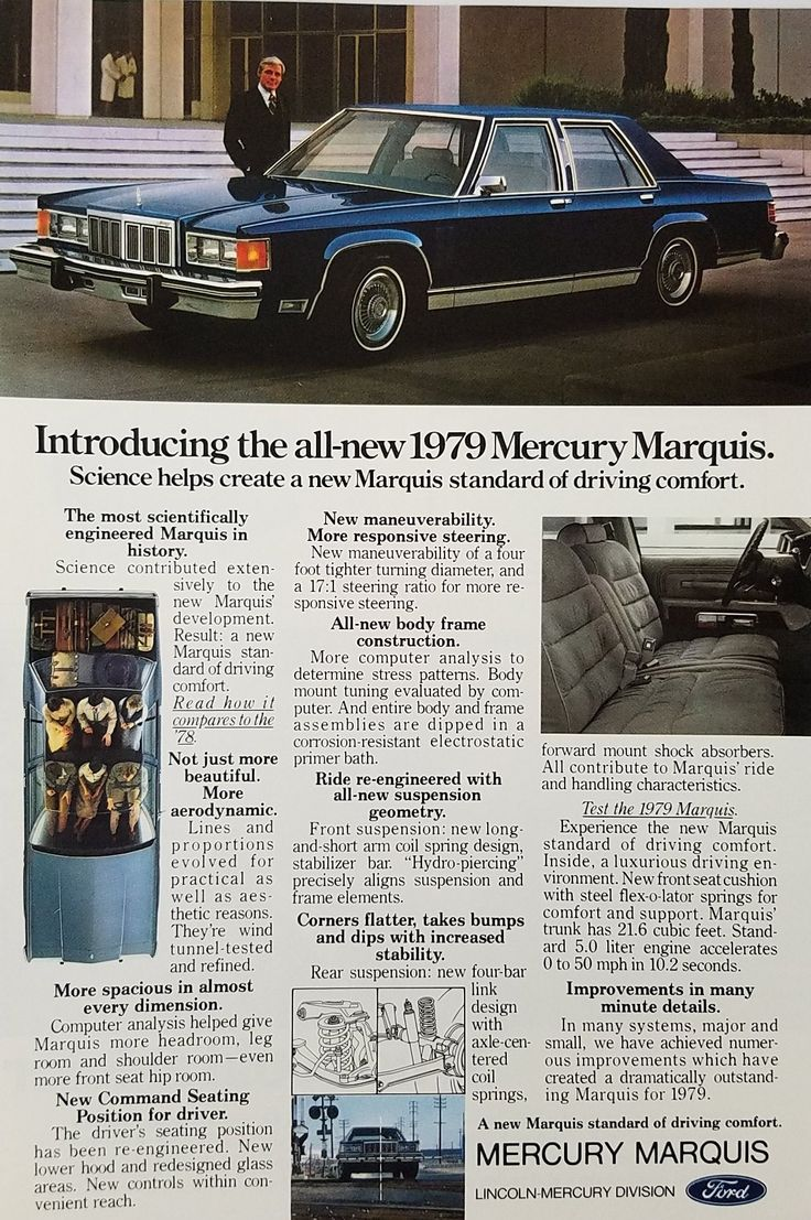 The 25 best mercury marquis ideas on pinterest ford ltd 1979 mercury marquis automobile vintage ad sciox Choice Image