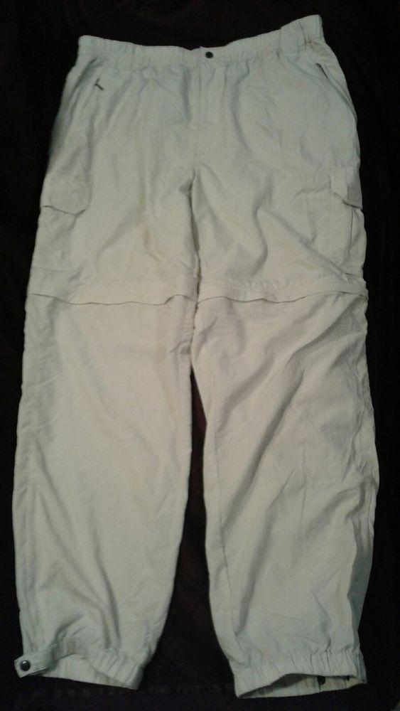 L.L. Bean Convertible Pants / Shorts 38/34 Khaki Gray Hiking Outdoors Nylon #LLBean #Cargo