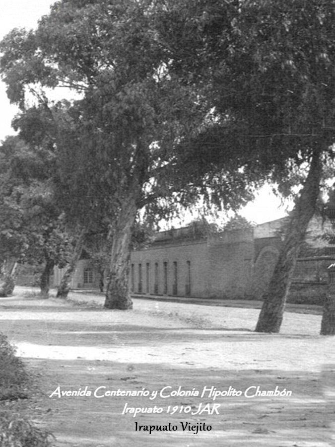Avenida Centenario en Irapuato Guanajuato , Mexico ,,, en 1910