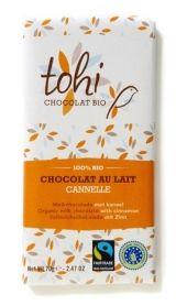Tohi 70g. Ciocolata organica cu lapte ecologic si scortisoara