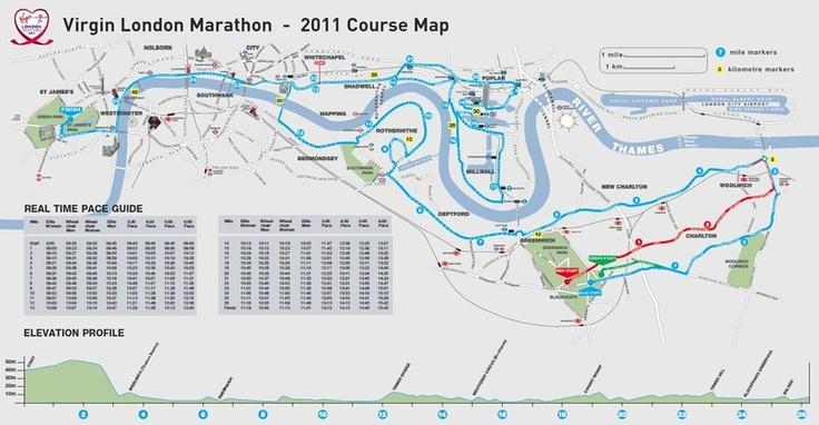 London marathon course map