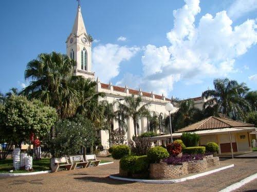 Praça da Matriz em Ibirá SP.